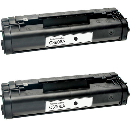 Twin Pack - Remanufactured replacement for HP 06A (C3906A) black laser toner cartridge