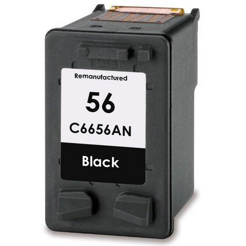 Remanufactured replacement for HP 56 (C6656AN) black ink cartridge