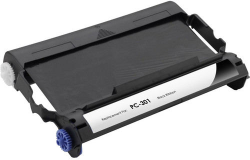 Compatible Brother PC-301 fax cartridge with ribbon roll