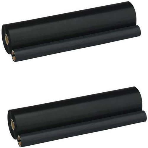 Twin Pack - Compatible black ribbon refill rolls for Brother PC-302RF