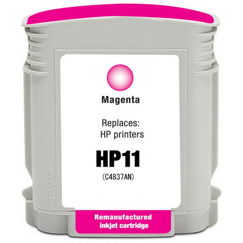 Remanufactured replacement for HP 11 (C4837AN) magenta ink cartridge