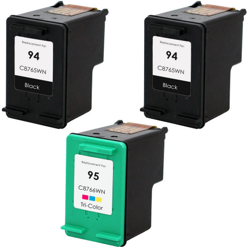 3 Pack - Remanufactured replacement for HP 94 and 95 series ink cartridges