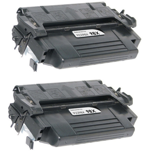 Twin Pack - Remanufactured replacement for HP 98X (92298X) black laser toner cartridge