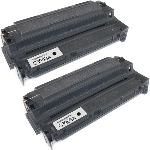 Twin Pack - Remanufactured replacement for HP 03A (C3903A) black laser toner cartridge