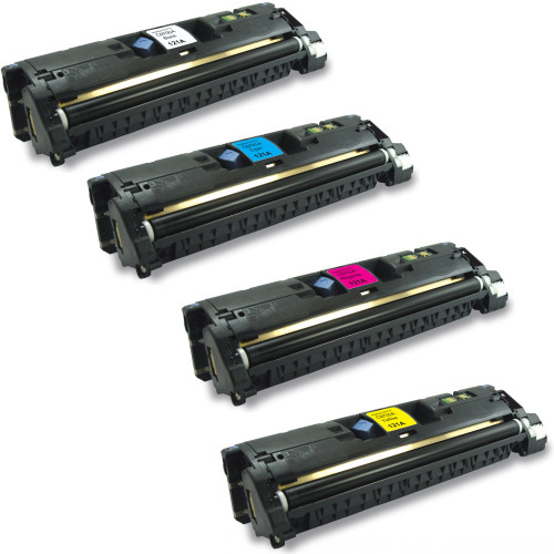 4 Pack - Remanufactured replacement for HP 121A series laser toner cartridges
