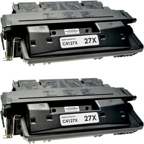Twin Pack - Remanufactured replacement for HP 27X (C4127X) black laser toner cartridge