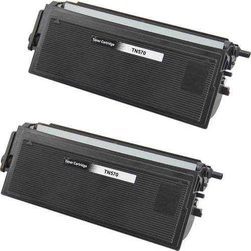 Twin Pack - Compatible replacement for Brother TN570 black laser toner cartridge
