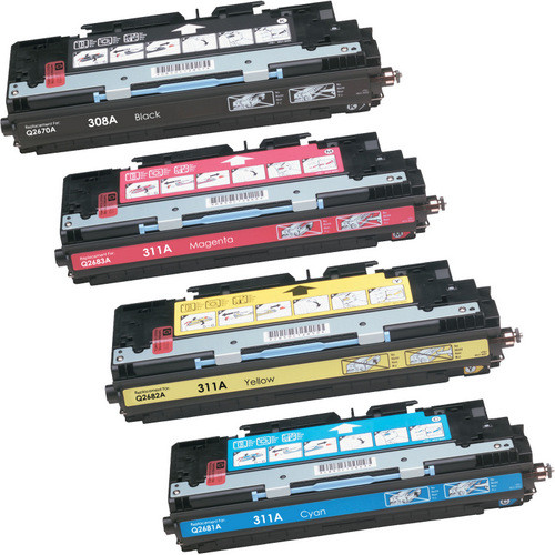 4 Pack - Remanufactured replacement for HP 308A and 311A series laser toner cartridges