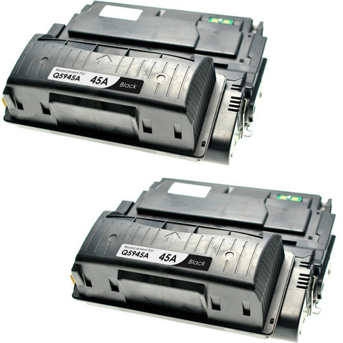 Twin Pack - Remanufactured replacement for HP 45A (Q5945A) black laser toner cartridge