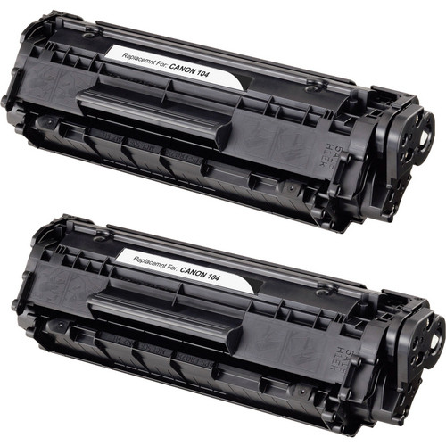 Twin Pack - Remanufactured replacement for Canon 104, FX-9 , FX-10, (0263B001AA) black laser toner cartridge