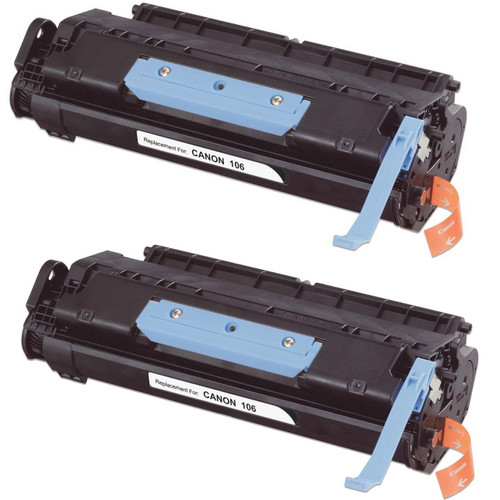 Twin Pack - Remanufactured replacement for Canon 106 (0264B001AA) black laser toner cartridge