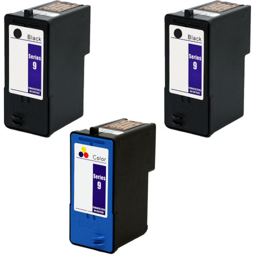 3 Pack - Remanufactured replacement for Dell series 9 ink cartridges