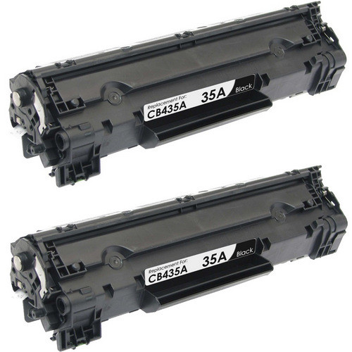 Twin Pack - Remanufactured replacement for HP 35A (CB435A) black laser toner cartridges