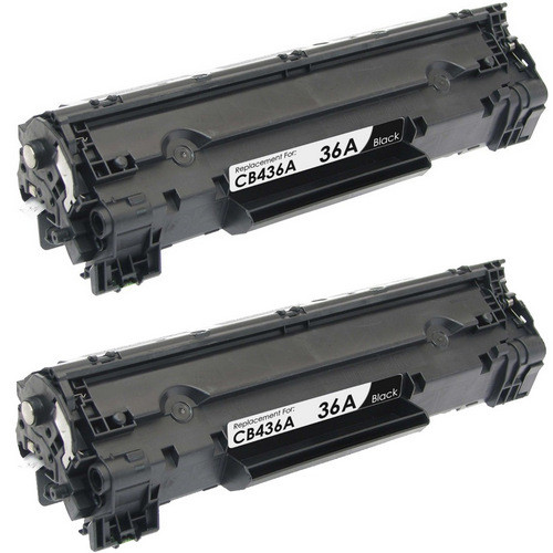 Twin Pack - Remanufactured replacement for HP 36A (CB436A) black laser toner cartridges