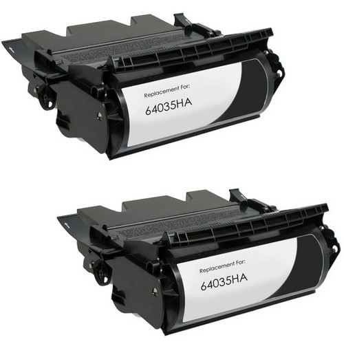 Twin Pack - Remanufactured replacement for Lexmark 64035HA