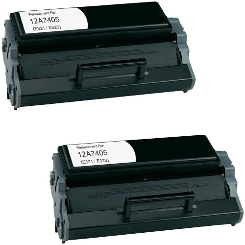 Twin Pack - Remanufactured replacement for Lexmark 12A7405 (E321, E323)