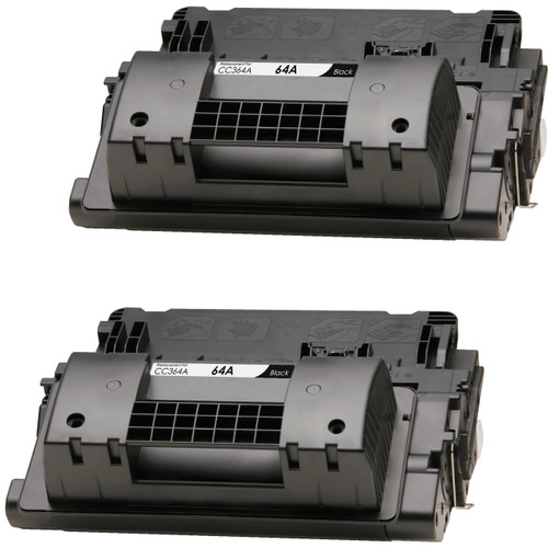 Twin Pack - Remanufactured replacement for HP 64A (CC364A) black laser toner cartridges