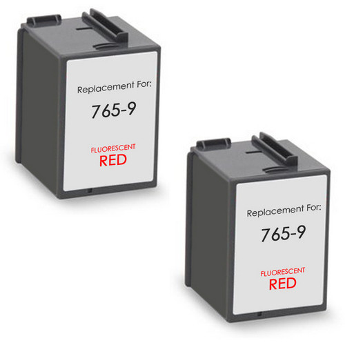Pitney-Bowes 765-9 red ink cartridges twin pack