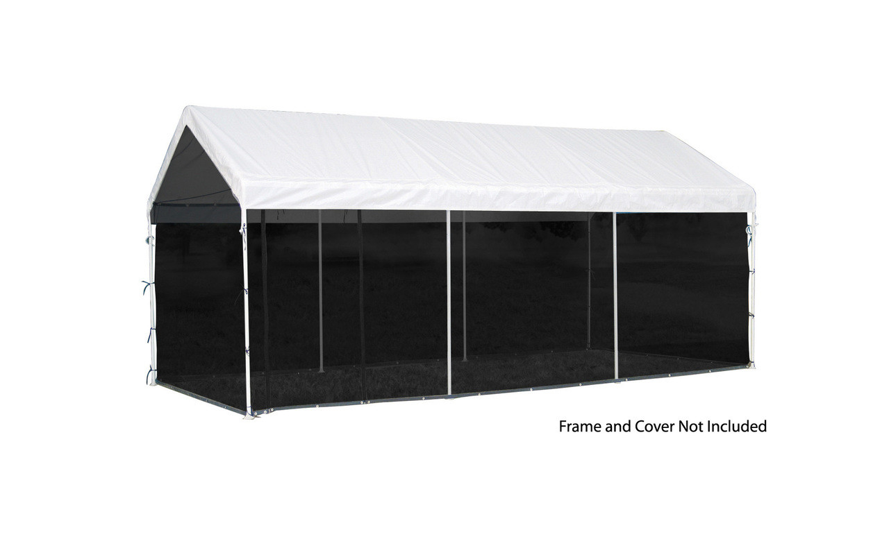 10x20 White Canopy Screen Kit, Fits 1-3/8\