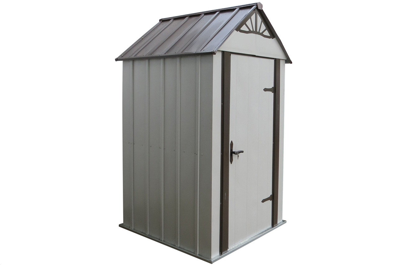 Designer™ Metro Shed, 4' X 4' Hot Dipped Galvanized Steel - Java on city roof, hospital roof, tractor roof, farmhouse roof, building roof, well roof, dog roof, boat roof, hotel roof, tenement roof, loft roof, adobe roof, apartment roof, cottage roof, bicycle roof, warehouse roof, factory roof, office roof, cabin roof, white roof,