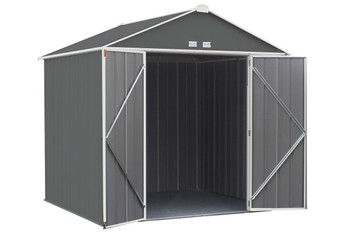 ... EZEE Shed® , 8x7, High Gable, 72 In Walls, Vents Charcoal U0026
