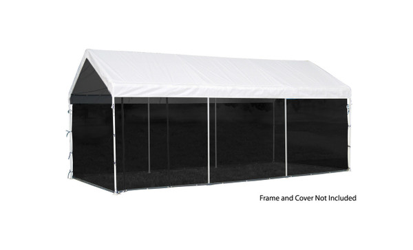 10x20 White Canopy Screen Kit Fits 1 38 And 2 Frame Shelters