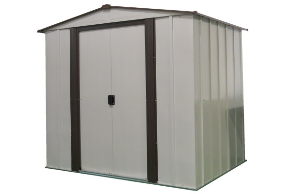 Newburgh Shed 6' x 5' Electro Galvanized Steel - Coffee / Eggshell