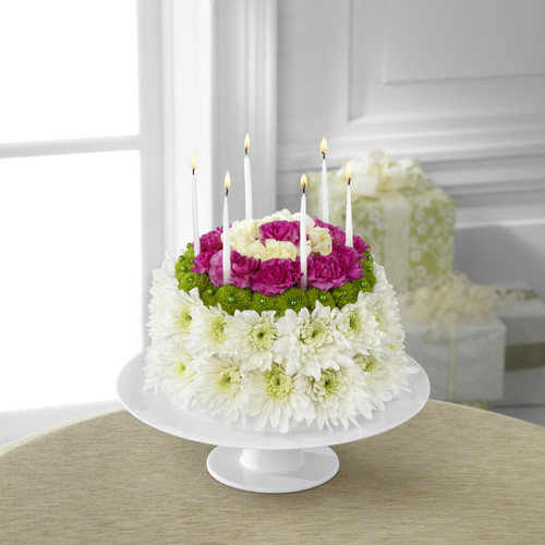 Wonderful Wishes Floral Cake - Flowers