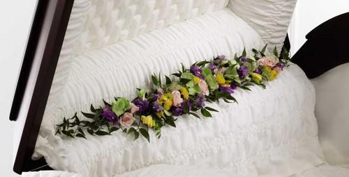 Trail of Flowers Casket Adornment