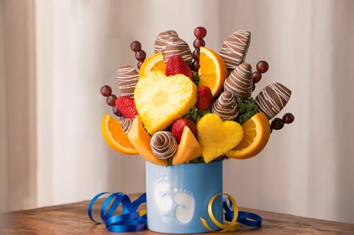 Baby Boy Fruit Arrangement