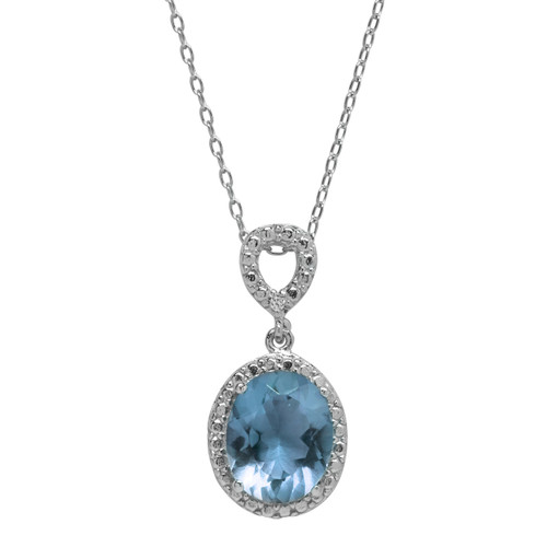 Blue Topaz Jewel Necklace (December Birthstone)
