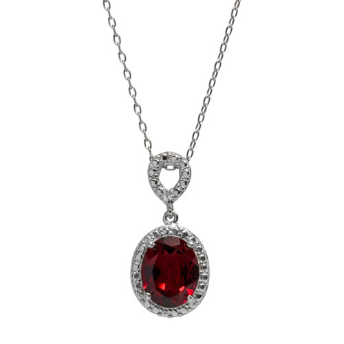 Ruby Jewel Necklace (July Birthstone)