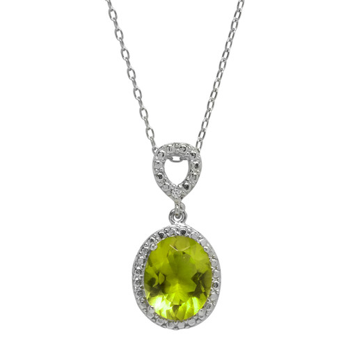 Peridot Jewel Necklace (August Birthstone)