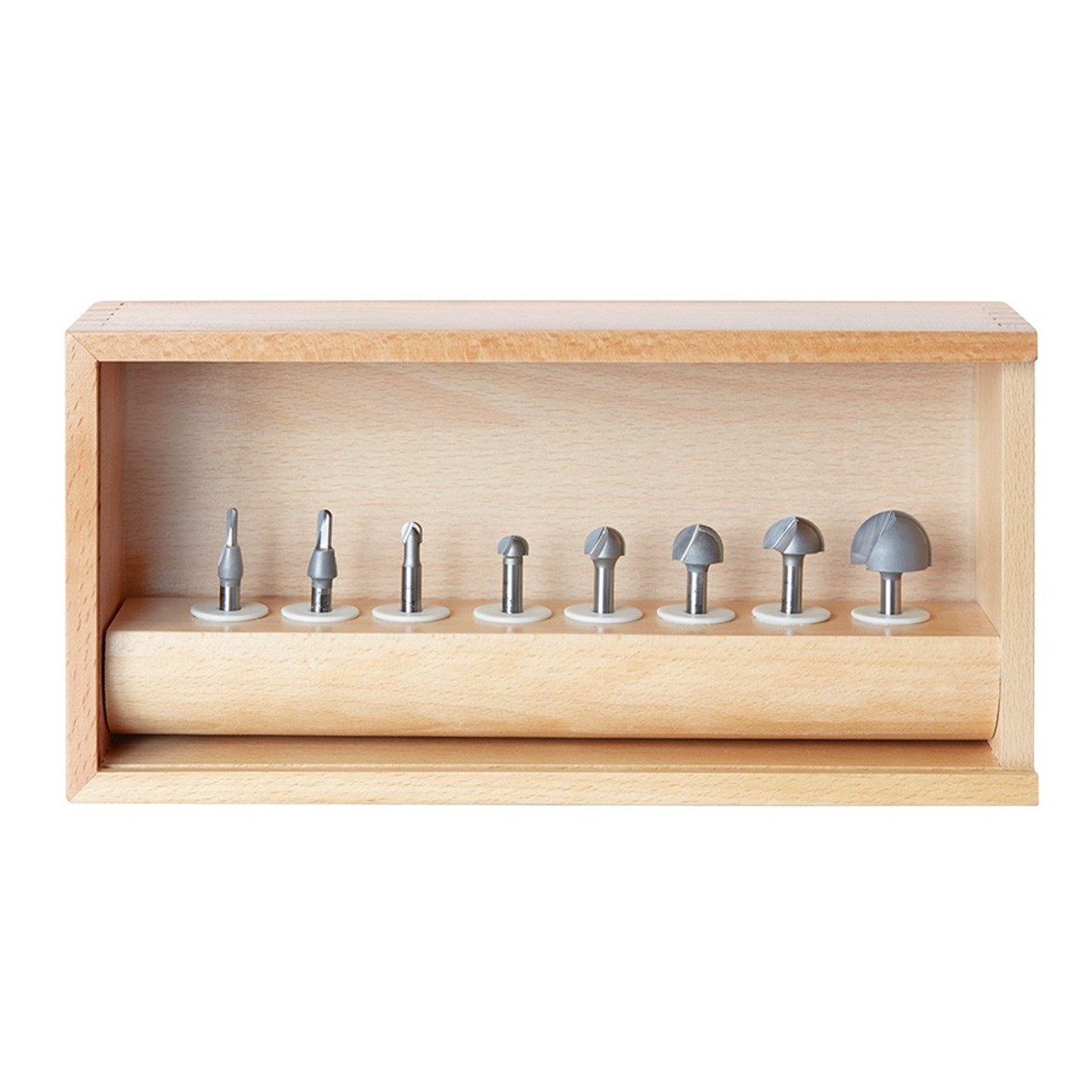 Amana 8 Pc Carbide Tipped Core Box Router Bit Collection
