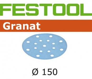 Festool Granat   150 Round   220 Grit   Pack of 100 (496982)
