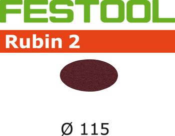 Festool Rubin 2   115 Round   120 Grit   Pack of 50 (499089)