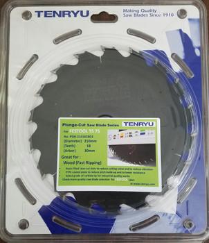 Tenryu PSW-21018CBD3 Wood Fast Ripping (Fits Festool TS 75 Festool #495379)