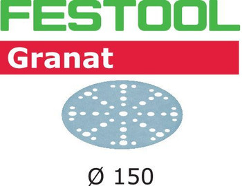 Festool Granat | 150 Round | 100 Grit | Pack of 100 | Multi-Jetstream 2 (575163)
