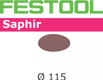 Festool Saphir   115 Round RAS   50 Grit   Pack of 25 (485245)