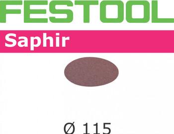 Festool Saphir   115 Round RAS   80 Grit   Pack of 25 (485246)