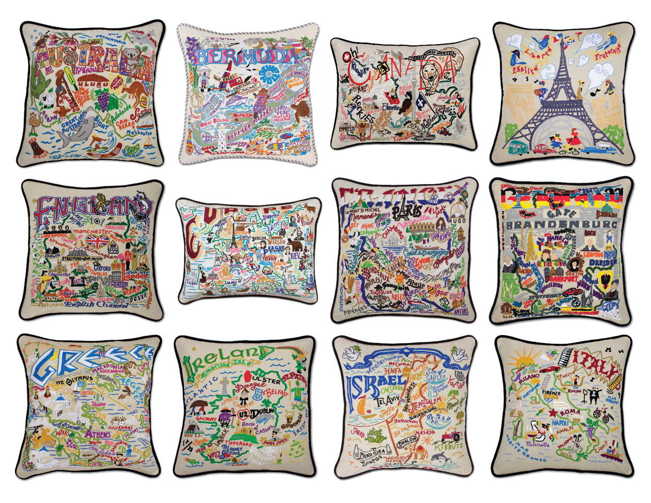 Wildflower Garden Butterfly Embroidered Pillows