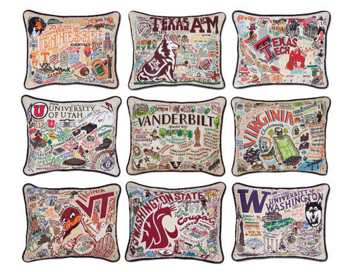 Collegiate Embroidered Pillows