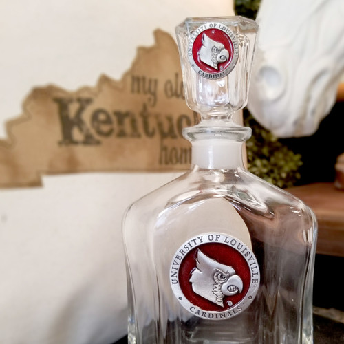 UL - University of Louisville Decanter & Glasses