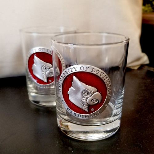 UL - University of Louisville Decanter & Glasses