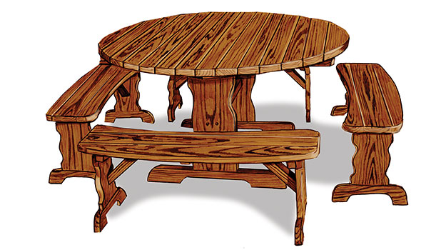 Wooden Outdoor Dining Furniture