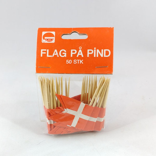 Dannebrog toothpick flags 10 per bag