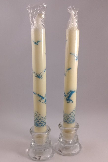 "Classic Seagull pattern candles  2.3cm/24cm (1""/9.5"")"