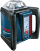 """Buy  Bosch GRL 500 HV + LR 50 Professional Rotation laser online at GZ Industrial Supplies.  The most important data  Here you will find the most important technical data for your professional Bosch tool at a glance! Laser diode 635 nm, < 1 mW Operating temperature -10 – 50 °C Storage temperature -20 – 70 °C Laser class 2 Working range with laser receiver 500 m (Diameter) Working range without receiver 20 m (Diameter) Accuracy ± 0.05 mm/m horizontal, ± 0.1 mm/m vertical Self-levelling range ± 5,7° (10%) Levelling time 15 s Dust and splash protection IP 56 Rotation speed 600 rpm Beam diameter 5 mm Power supply 4 x 7.4-V-Li-Ion Operating time (max.) 25 h Tripod thread 2 x 5/8"""" Weight, approx. 2,3 kg Length 234 mm Width 217 mm Height 194 mm Colour of laser line red Projection 1 x 360° line"""