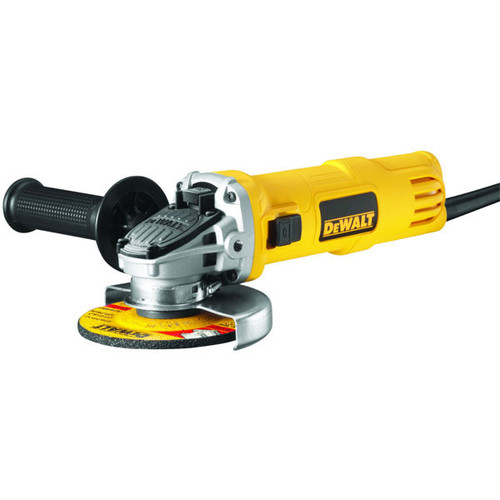 Dewalt DWE4157-QS angle grinder side switch Novolt- side view