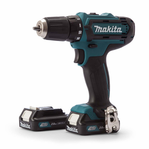 Makita DF331D cordless driver drill 10mm, keyless 10.8v, 2x battery 1.5.Ah & Charger case 2